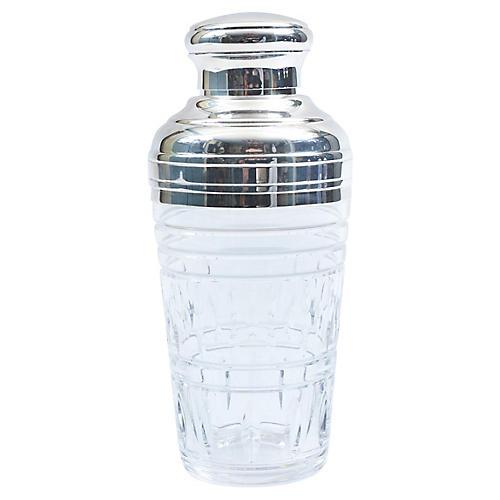 Mid-20th Century Crystal Martini Shaker