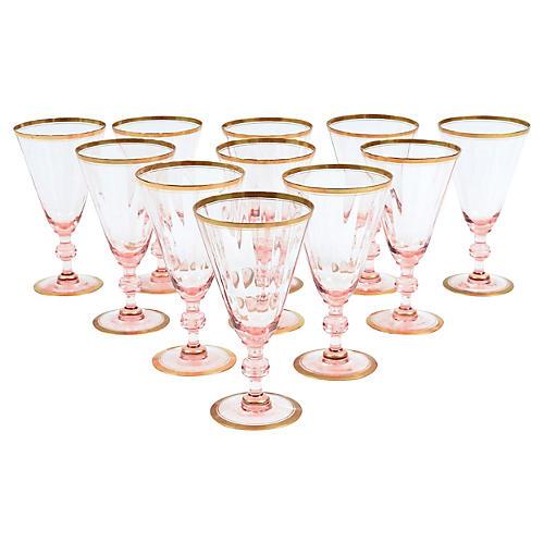 Vintage Crystal Barware Glass Set 11 PCS