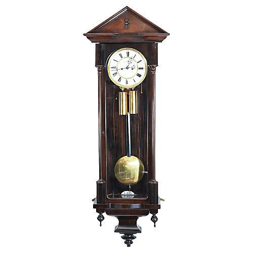 Mahogany Vienna Regulator Wall Clock