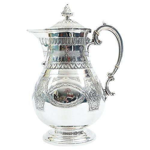 English Silver Plated Tea / Coffee Pot .