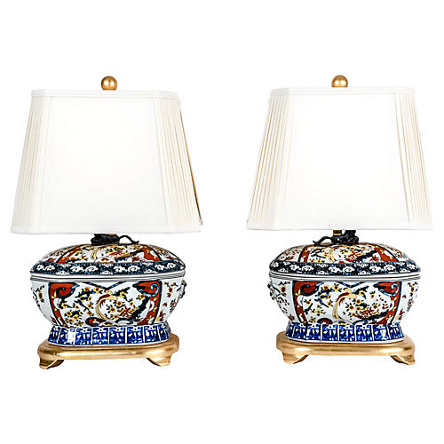 Late 20th C. French Table Lamps, Pair