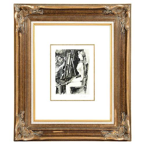 Pablo Picasso artist & Model Lithograph