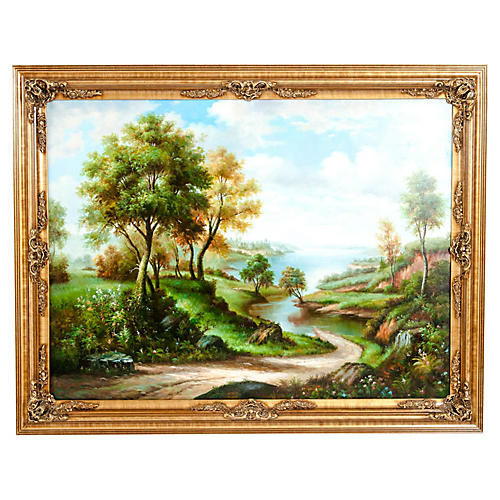 Giltwood Frame Oil / Canvas Painting