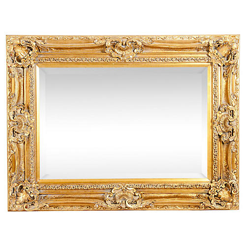 Giltwood Frame Bevelled Wall Mirror