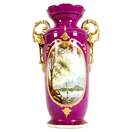 Old Paris Porcelain Decorative Vase