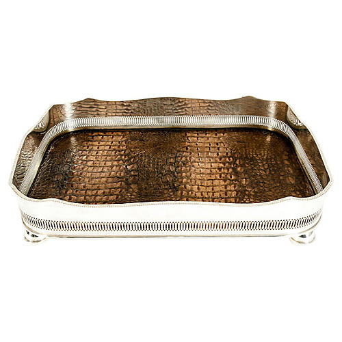 English Plate High Bordered Barware Tray