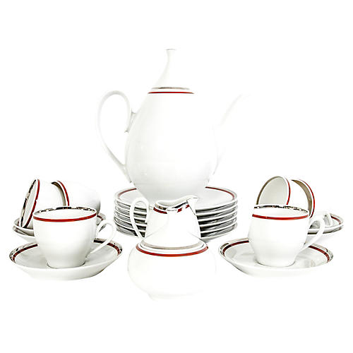 Art Deco German Porcelain Luncheon Set
