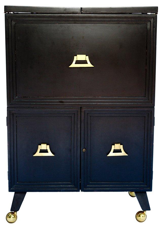 Rolling Bar Cabinet