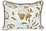 Schumacher Deco Mist Flower Pillow