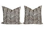 Alan Campbell Brown Zigzag Pillows, S/2