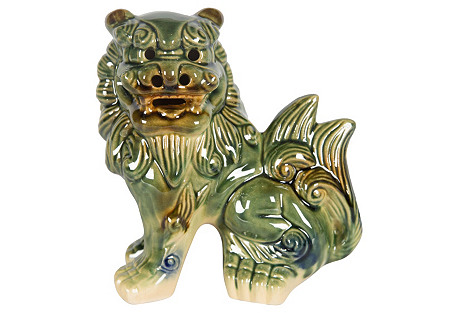 Green Glazed Ceramic Foo Dog