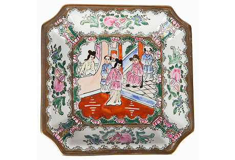 Famille Rose Chinoiserie Trinket Dish