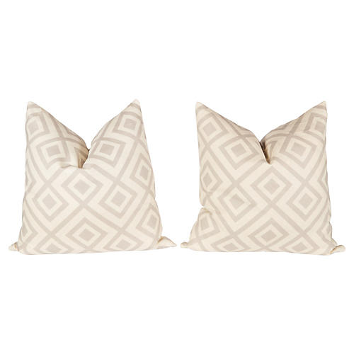 Light Gray Hicks Fiorentina Pillows, Pr