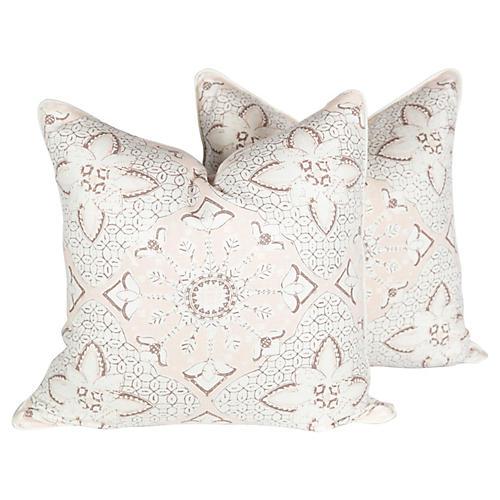 Chine Seas New Batik Pillows, Pair
