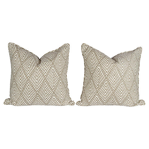 Tahitian Stitch Pillows, Pair