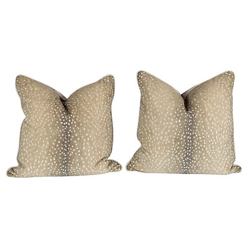 Stone Antelope Pillows, Pair