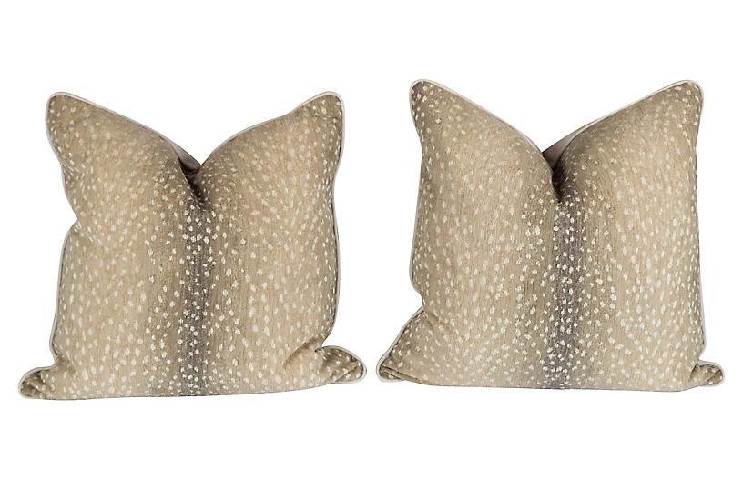 Stone Antelope Pillows, Pair