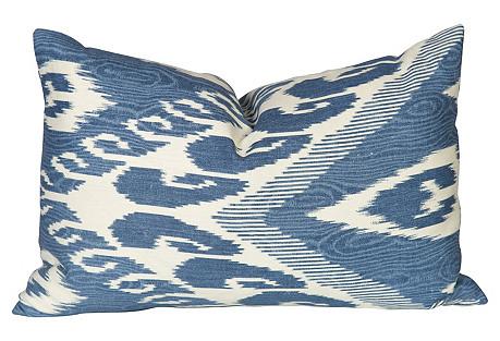 Blue & Ivory Lumbar Pillow