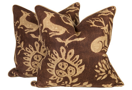 Woodland Pillows, Pair