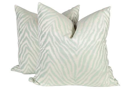 Zebra Pillows, S/2