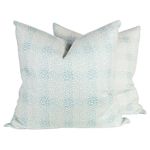 Vermicelli Linen Pillows, Pair