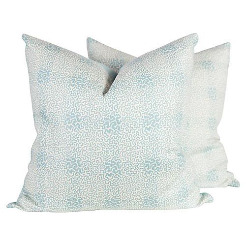 Vermicelli Linen Pillows, Pair