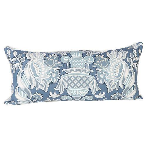 Windsor Linen Brocade Lumbar Pillow