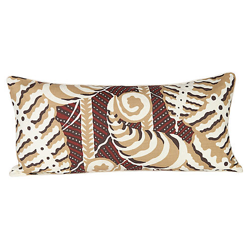 Ferns Uni Rust Lumbar Pillow