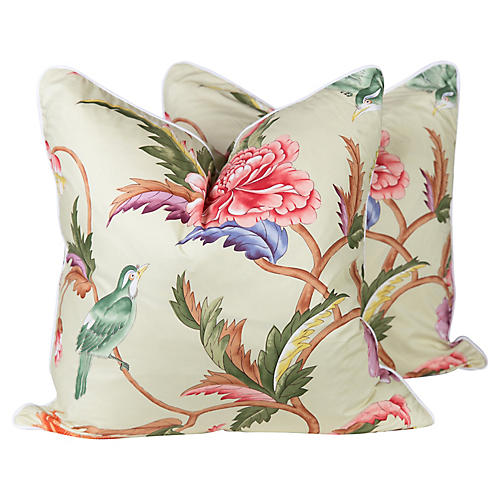 Brunshwig & Fils Leshan Bird Pillows, Pr