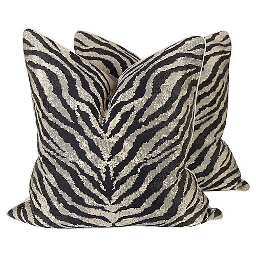 Onyx Zebra Nairobi Pillows, Pr