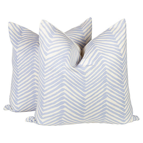 Alan Campbell Periwinkle Zig Zag Pillows