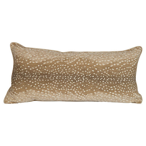 Khaki Antelope Large Lumbar Pillow