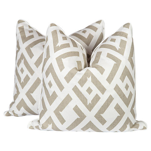 Dune China Club Linen Pillows, Pair