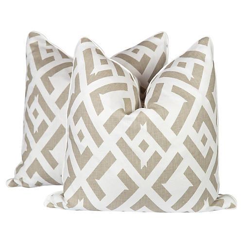 Dune China Club Linen Pillows, Pair