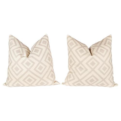 Gray Linen Hicks Fiorentina Pillows, Pr