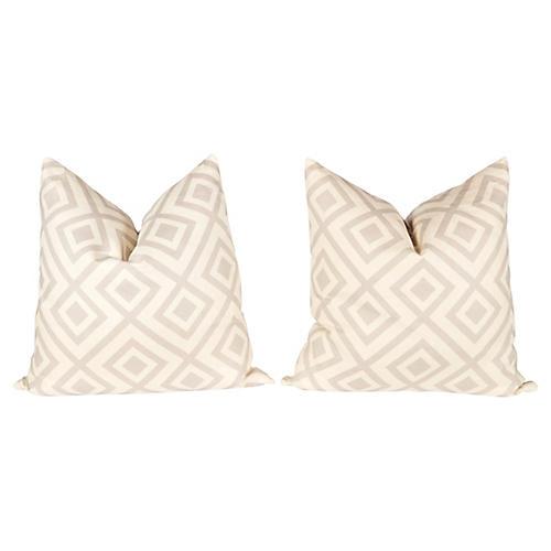 Light Gray Hicks Fiorentina Pillows, Pr