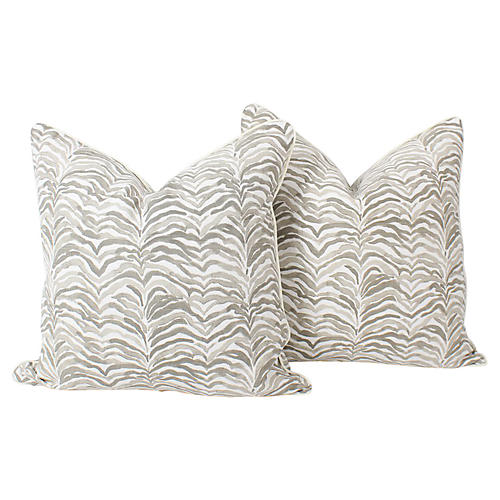 Tan Safari Tanzania Pillows, Pair