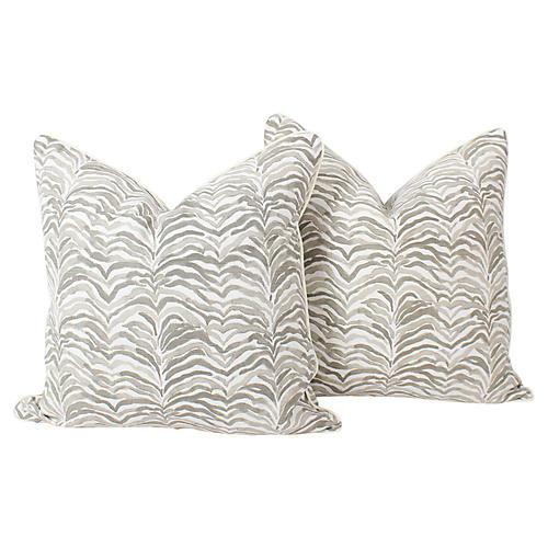 Tan Safari Tanzania Pillows, Pair