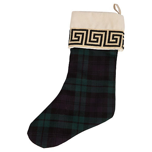 Black Watch & Greek Key Stocking