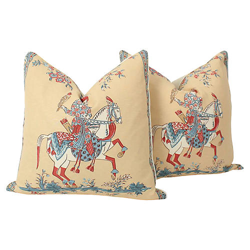 Chinoiserie Emperor Pillows, Pair