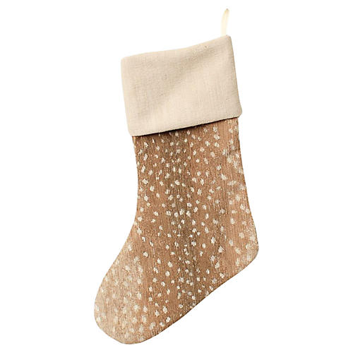 Tan Chenille Antelope Stocking