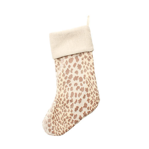 Pearl Velvet Cheetah Stocking
