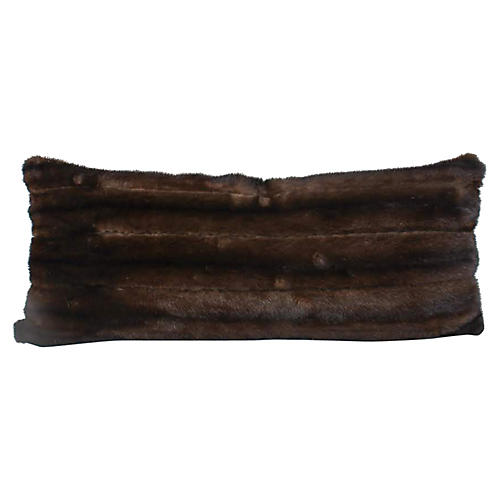 Chocolate Mink Lumbar Pillow