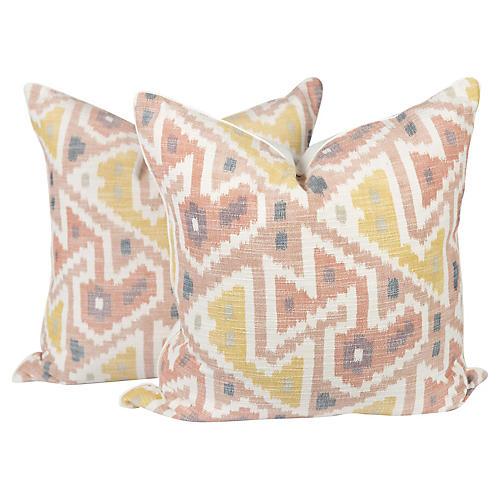 Pastel Ozak Pillows, Pair