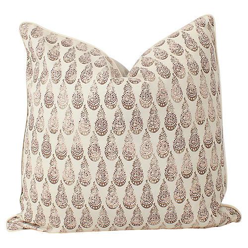 Tibetano Juniper Linen Throw Pillow