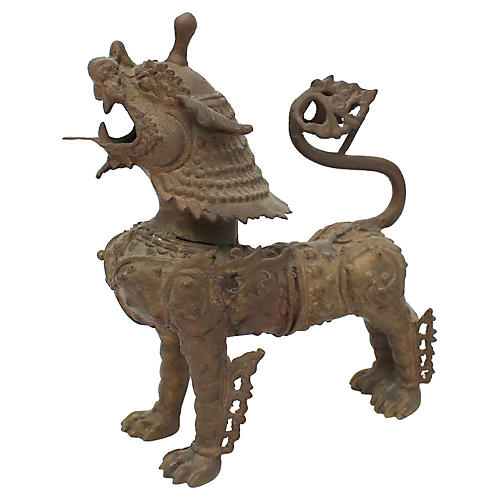 Chinoiserie Bronze Griffin