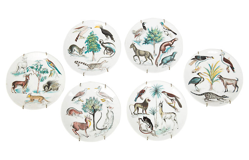Limoges Earthly Paradise Plates S/6