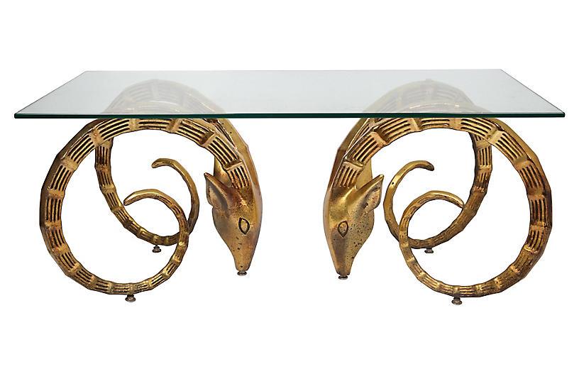 Gold Ibex Midcentury Coffee Table