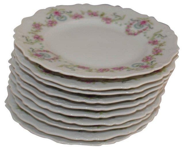 Limoges Dessert Plates, S/10