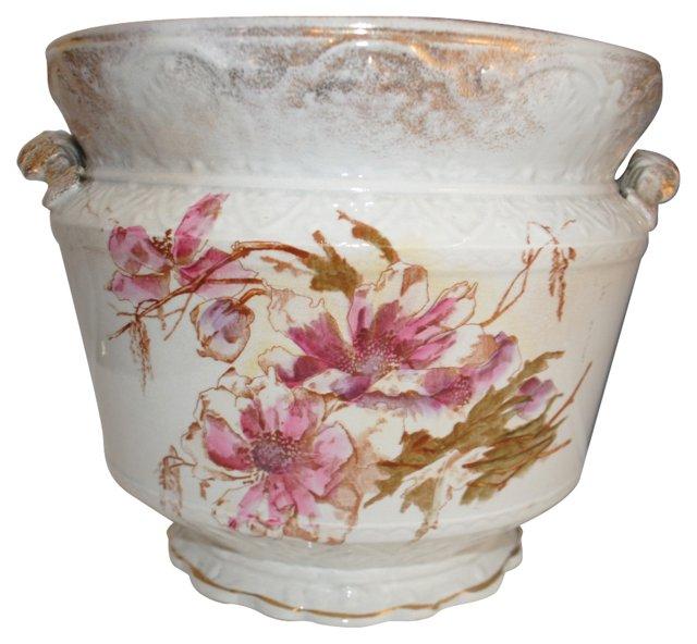 Porcelain Floral Cachepot Planter